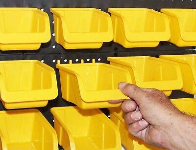 Wallpeg Storage Pegboard Bins - Plastic Pegboard Peg Hook Organizer Bin Kit
