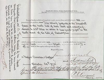 Philadelphia & Reading Railroad Company lease agreement, 1873