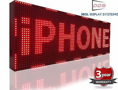 12 X 63 Red Outdoor Led Sign Digital Text Logo Animation Open Display Business