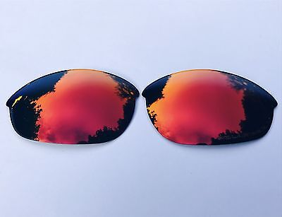 Graviert Polarisiert Rubin Rot Gespiegelt Ersatz Oakley Half Jacket Gläser