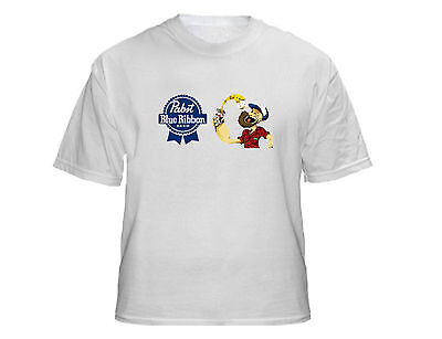 Pabst Blue Ribbon Beer Popeye T Shirt