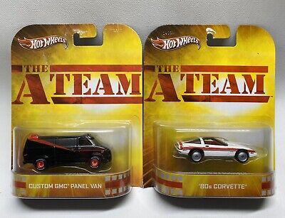 Hot Wheels Retro Entertainment The A Team Custom GMC Panel Van / 80s Corvette