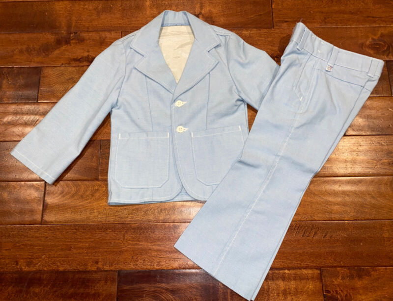 Vintage Billy The Kid 4T Suit - Bellbottoms- Baby Blue Suit