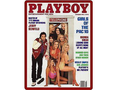Jerry Seinfeld Playboy Magazine Cover Refrigerator / Tool Box  Magnet