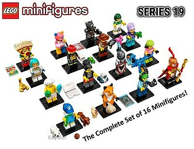 Lego Series 19 Complete Set of 16 Collectible Minifigures 71025