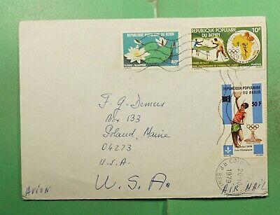 DR WHO 1979 BENIN COTONOU AIRMAIL TO USA OLYMPICS SPORTS  g15588