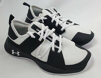 New Under Armour Size 7 1/2  Men's Black & White Shoes SB#28