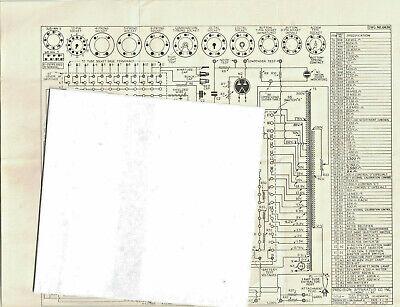 April 2 1955 Precision Apparatus Test Master Series 10-54 Schematic Tuber Tester