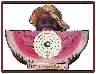 1918 Watermelon Coon Black Americana Ad NEW! Refrigerator Magnet