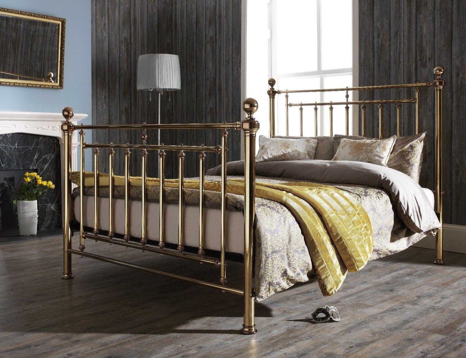 Edward Metal Bed Frame In Brass Or Nickel King Or Super King Ebay