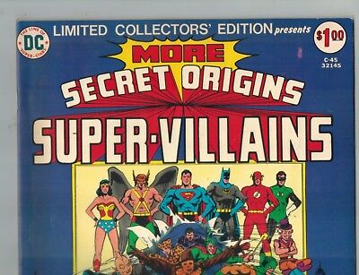 Secret Origins Super Villains C-45   1st Wonder Woman vs Cheetah Battle!  VF-! - Comic Book Women Villains