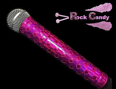 MICROPHONE COVER (ROCK CANDY) PINK HOLOGRAPHIC MIC COVER FOR CORDLESS MICS ()