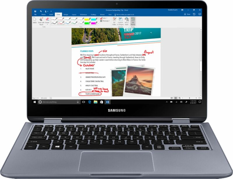 """Samsung Notebook 7 Spin 2-in-1 13.3"""" Touch-Screen Laptop Intel Core i5 8GB Memory 512GB Solid State Drive Stealth Silver NP730QAA-K02US"""