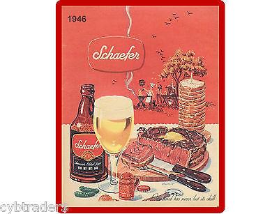 1946 Schaefer Beer Refrigerator / Tool Box Magnet Man Cave NEW!