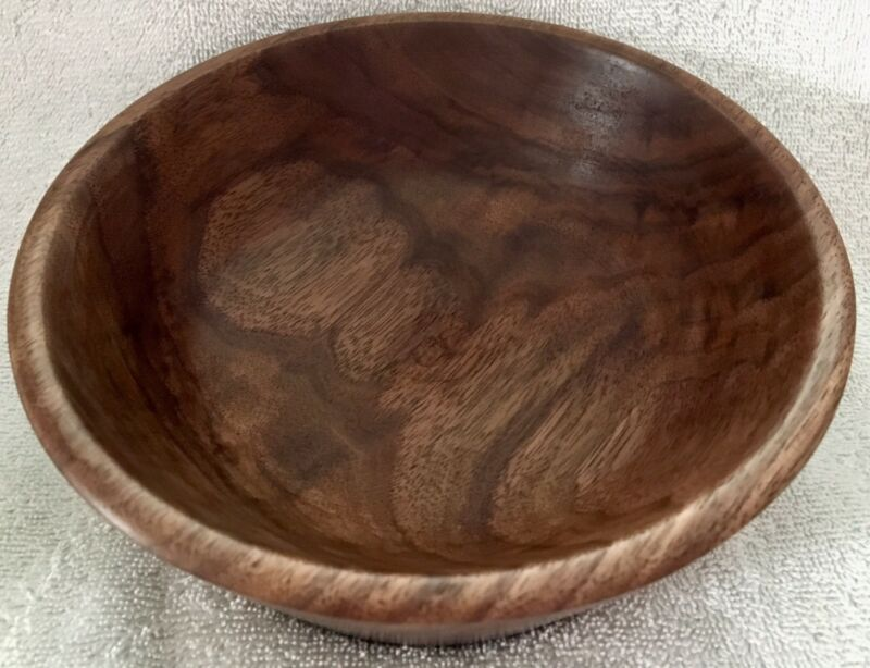 Hand Turned Wood Bowl. Solid Walnut. Handmade Rustic Kentucky Home Accent/Gift.
