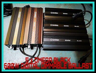 5x OMEGA BLACK 600W DIGITAL DIMMABLE digi BALLAST, HYDROPONICS lumii, gavita UK