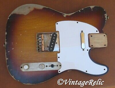 aged RELIC nitro TELE Telecaster loaded body SB Fender Custom Shop bridge
