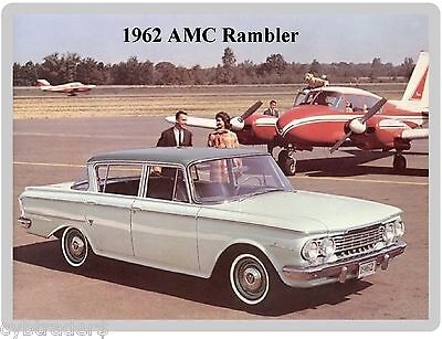 1962 AMC Rambler  Auto Refrigerator / Tool Box Magnet Man Cave Shop