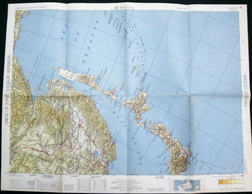 Northern Sea of Japan - USSR - China orig 1956 US Army Corps of Engineers Map