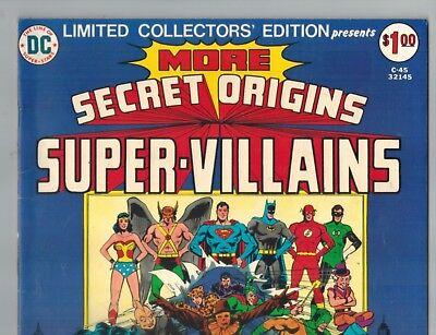 Secret Origins Super Villains C-45 w/ 1st Wonder Woman vs Cheetah Battle!  VF-!