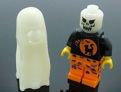 LEGO Minifigure Glow in the dark head and shroud Halloween