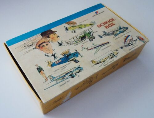 Vintage United Airlines Pencil School Box Cardboard Airplane Tulip Logo Aviation