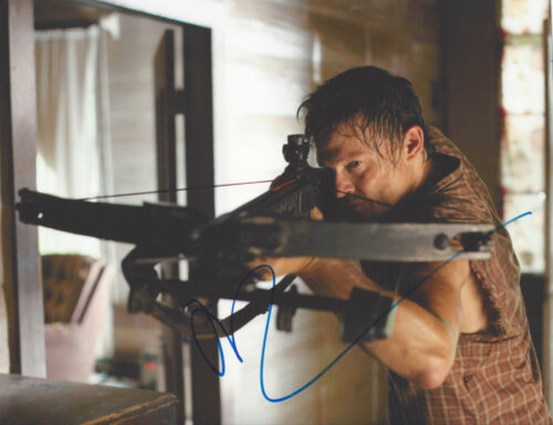 NORMAN REEDUS SIGNED 'THE WALKING DEAD' DARYL DIXON 8x10 PHOTO F w/COA ACTOR