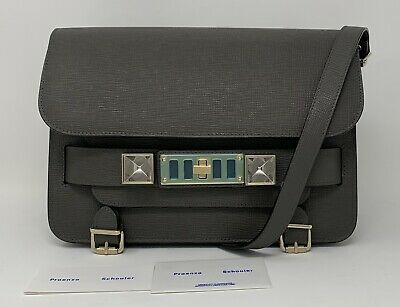 Proenza Schouler Bag Ps11 Classic Grey Linosa Leather Shoulder Bag Crossbody NEW