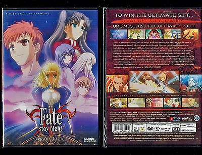Fate Stay Night  Tv Complete Collection  Brand New 4 Dvd Anime Set