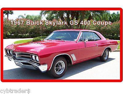 1967 Buick Skylark GS 400 Coupe  Refrigerator / Tool Box Magnet  Man Cave Garage