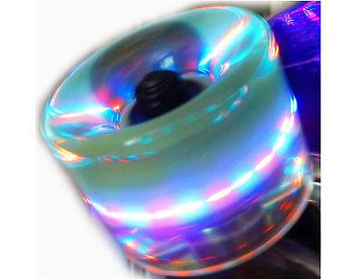 LED Skate Wheels 60X45MM - Clear Green w/ Multi Light