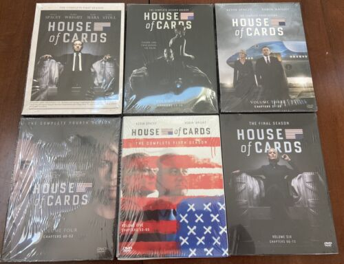 Brand New House Of Cards DVD TV Series Complete Seasons 1-6 Free USA Shipping - $69.99
