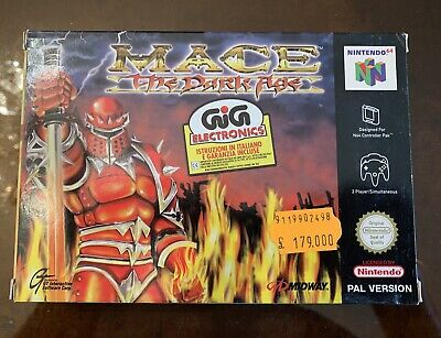 Mace The Dark Age Nintendo 64 GIG PAL ITA nuovo N64 Midway Fondo Magazzino New