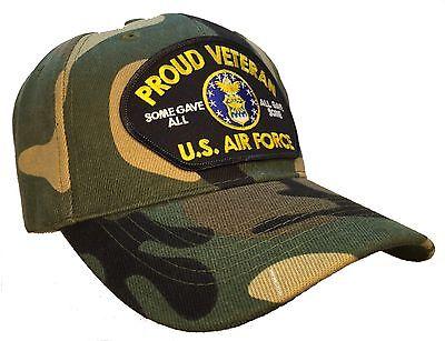 Proud Veteran Hat Camo Ball Cap U.S. Air Force Veteran USAF Vet