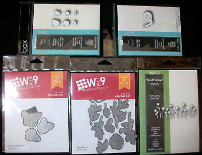 Lot#11  5 Sets Steel Dies Memory Box WPlus9 Poppystamps Cut Stencil Emboss NIP