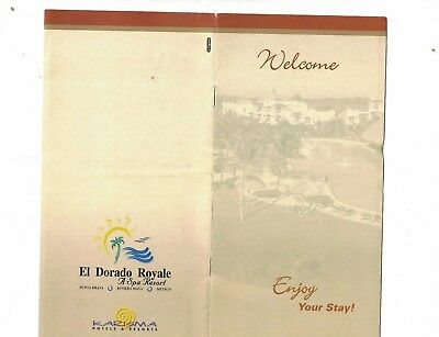 El  Dorado Royale Spa Resort 1990S Welcome Map Mexico