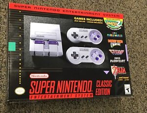 SNES CLASSIC - BRAND NEW NEVER OPENED!!  200$