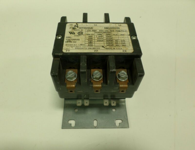 PRODUCTS UNLIMITED CARRIER CONTACTOR HN53HH200