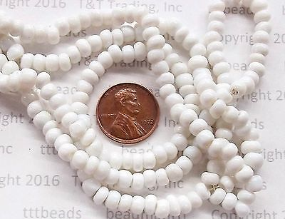 Antique White Pony Beads Trade Beads Venetian     # 16  Vintage  F&I