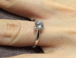 1.2 Carat Diamond Solitaire Engagement Ring In Platinum Size L   Half 8a74ab7d27