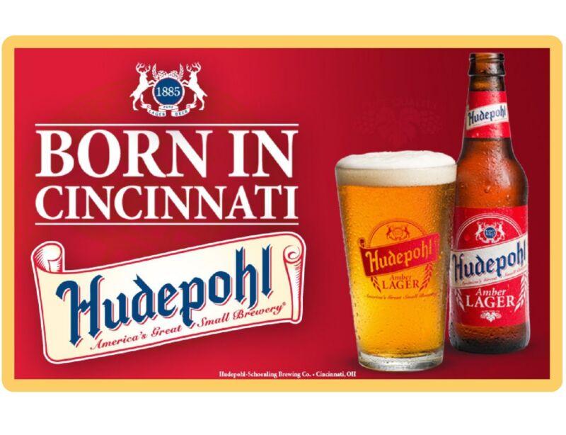 Hudepohl Beer Cincinnati, OH  Refrigerator / Tool Box Magnet Man Cave