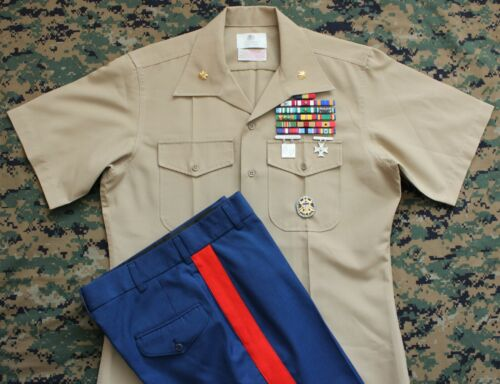 USMC Marine Corps Major Dress Blue D Uniform Ribbons Joint Chiefs of Staff Badge