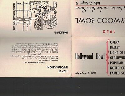 Hollywood Bowl 1950 Symphonies Under the Stars Brochure