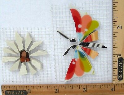 Colorful Butterfly & Daisy Mosaic Tile Broken Cut China Plate mosaic       (Broken Mosaic Tile)