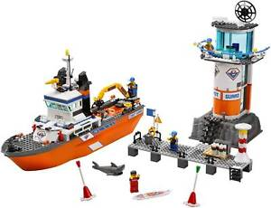 Lego 7739: Coast Guard Patrol Boat & Tower (Complete Set, No Box)