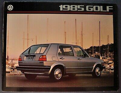 1985 Volkswagen Golf Catalog Sales Brochure Diesel Excellent Original 85 VW 1985 Vw Golf Diesel