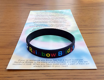 RAINBOW BRIDGE WRISTBAND PET LOSS MEMORIAM / IN MEMORY / DOG / CAT ITEM 2