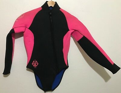 Body Glove Womens Wetsuit 6.5mm Dive Jacket Size Large Top Front Zip Long  Sleeve 129b319d7