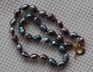Black Pearl Natural Freshwater Pearl Necklace Corlette Port Stephens Area Preview