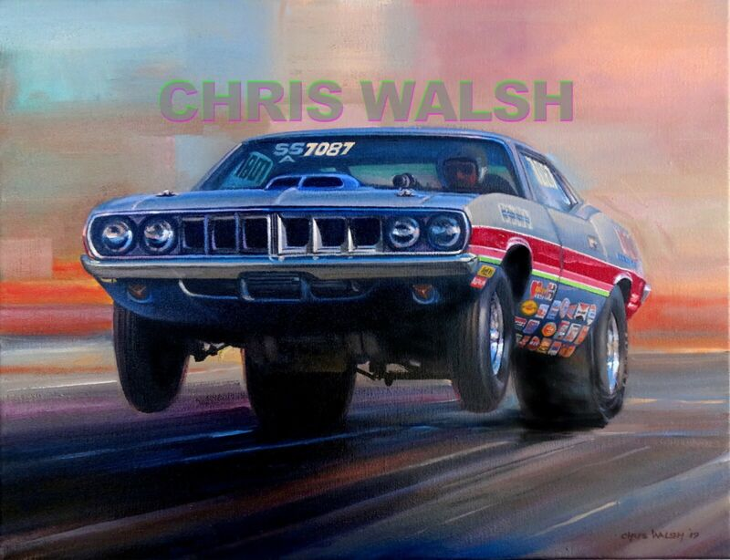 Drag Racing action prints...71 Hemi 'Cuda Super Stock